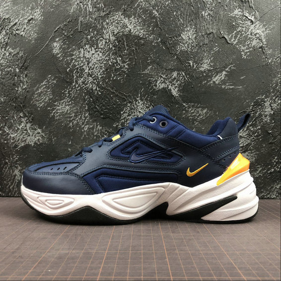 Wholesale Cheap Nike M2K Tekno AV4789-400 Midnight Navy Laser Orange Marine Minuit Orange Laser