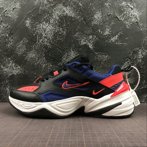 Wholesale Cheap Nike M2K Tekno Mens Womens AV4789-006 Black Sapphire Saphir Noir