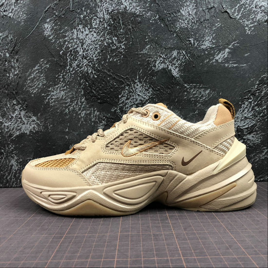 Wholesale Cheap Nike M2K Tekno Mens Womens BV0074-200 Linen Ale Brown Wheat Toile Bleat Biere Brune