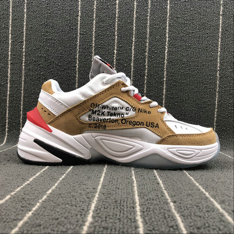 Wholesale Nike M2K Tekno x Off White  AO3108-200 Phantom Oil Grey Matte Silver Fantome Gris Petrole