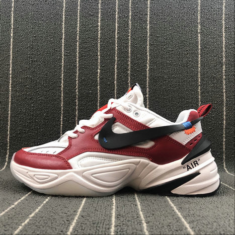 Wholesale Nike M2K Tekno x Off White AO3108-060 Red White Rouge Blanc