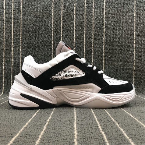 Wholesale Nike M2K Tekno x Off White AO3108-300 Phantom Grey Silver Fantome Gris Petrole