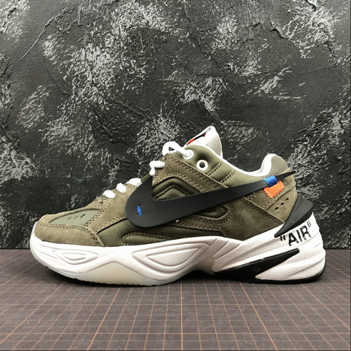 Cheap Wholesale Nike M2K Tekno x Off White AO3108-580 Phantom Oil Grey Matte Silver Fantome Gris Petrole