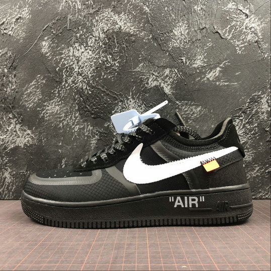 Wholesale Cheap Nike OFF-WHITE -The 10 Air Force 1 Low White Black Blanc Mens
