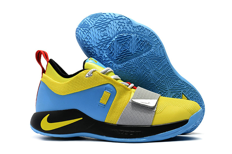 Cheap Wholesale Nike PG 2.5 BQ9457-740 Opti Yellow Blue Hero-Black-University Red-Metallic Silver