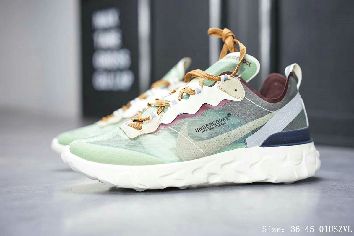 Wholesale Cheap Nike React Element 87 Mens Womens Releasing In Neptune Green