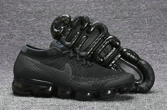 fba44051f81 Nike VaporMax Cheap Wholesale Nike Air VaporMax Flyknit Mens Running Shoes  Total Black