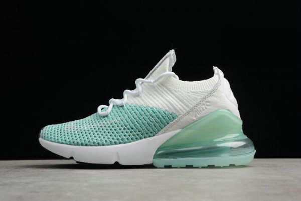 Cheap Wholesale Nike WMNS Air Max 270 Flyknit Igloo White Clear Emerald-Black AH6803-301