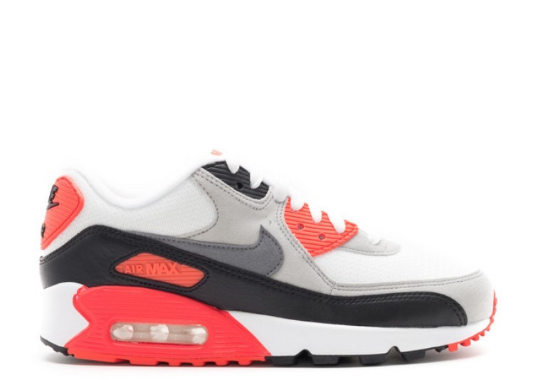 Cheap Wholesale Nike Wmns Air Max 90 Og Infrared 742455-100 White Neutral Grey Infrared Black