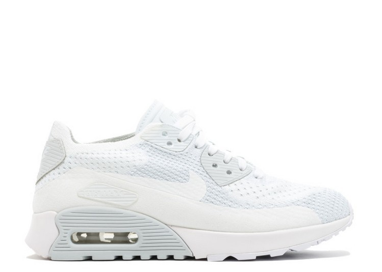 Cheap Wholesale Nike Wmns Air Max 90 Ultra 2.0 Flyknit 881109-104 White White-Pure Platinum