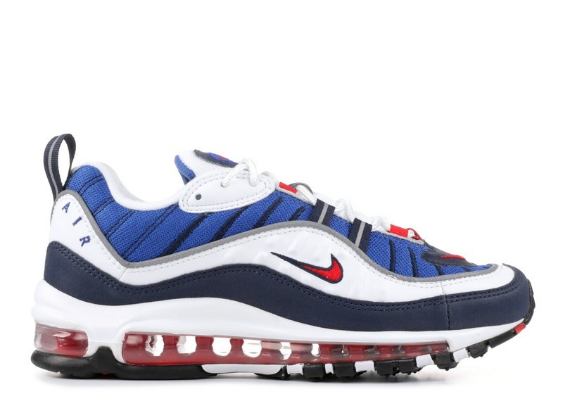 Cheap Wholesale Nike Wmns Air Max 98 Og Gundam Ah6799-100 White University Red Obsidian