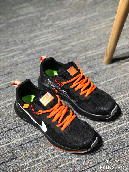 Wholesale OFF WHITE x NIKE AIR ZOOM STRUCTURE 21 Mens Womens Orange Black White
