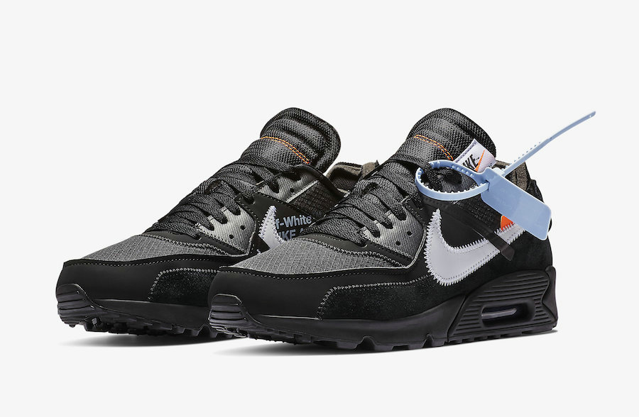 best service 4c937 d1b2f Wholesale Off-White x Boys Nike Air Max 90 Black-Cone-White-