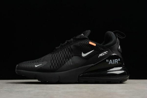 Cheap Wholesale Off-White x Nike Air Max 270 Black White Womens Running Shoes AA8058-001