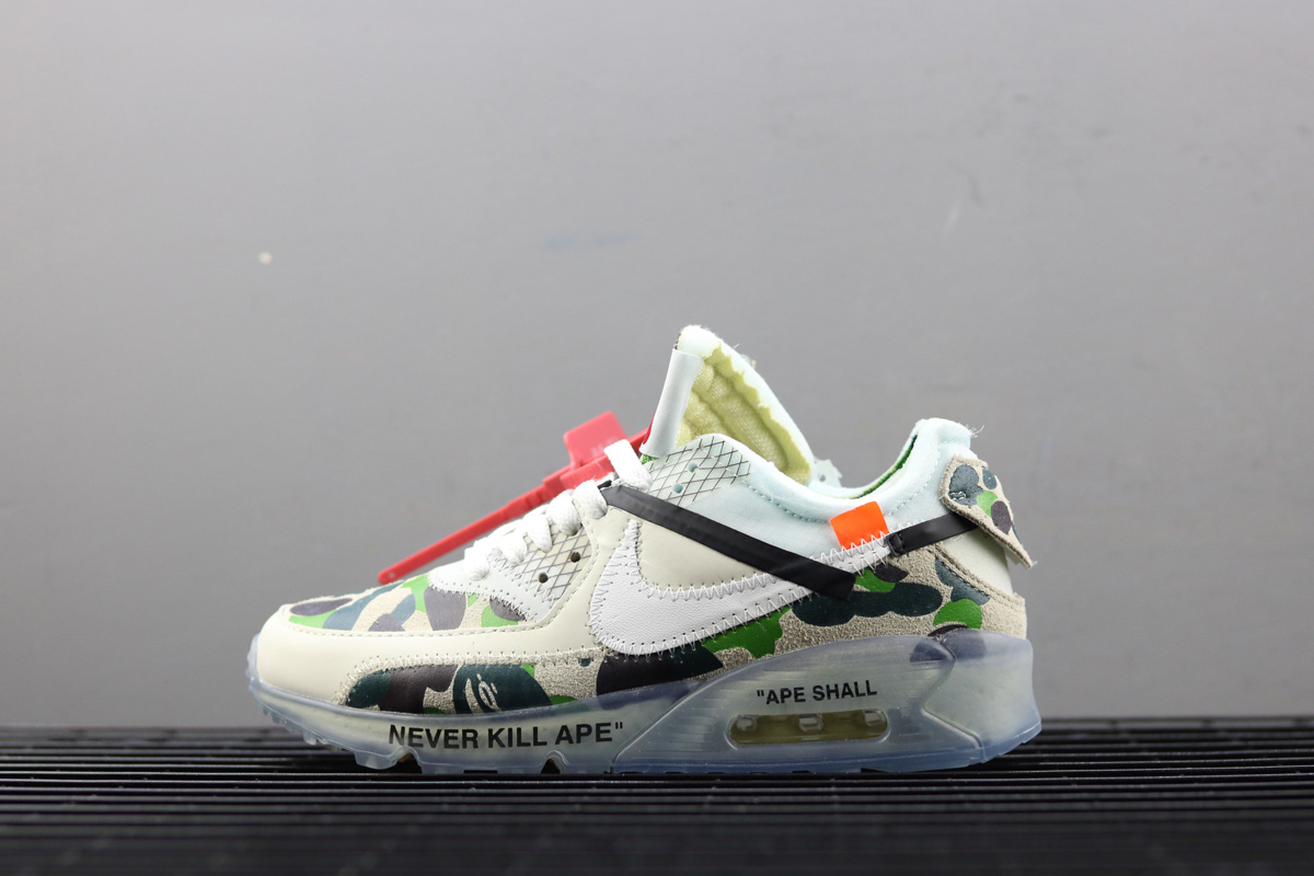 Wholesale Off-White x Nike Air Max 90 Custom Ice Camo