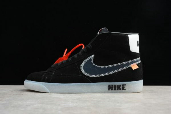 Cheap Wholesale Off-White x Nike Blazer Mid Black Womens Shoes AA3832-001