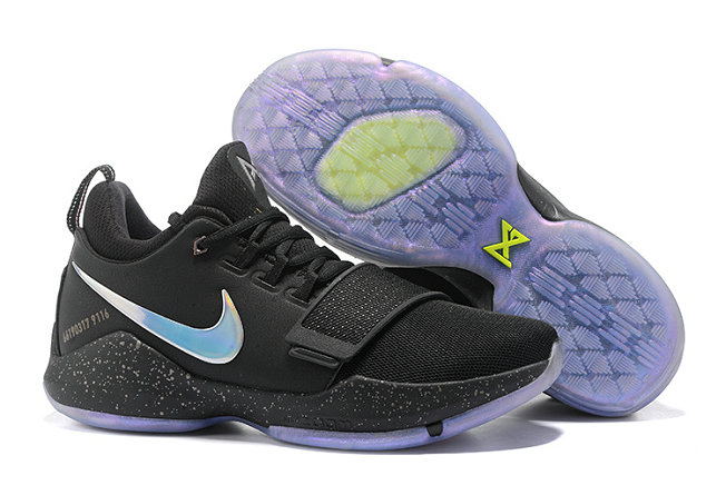 Official Cheap Wholesale Nike PG 1 Mens Black Blue Grey