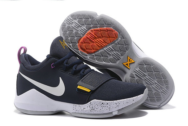 Official Cheap Wholesale Nike PG 1 Mens White Navy Blue