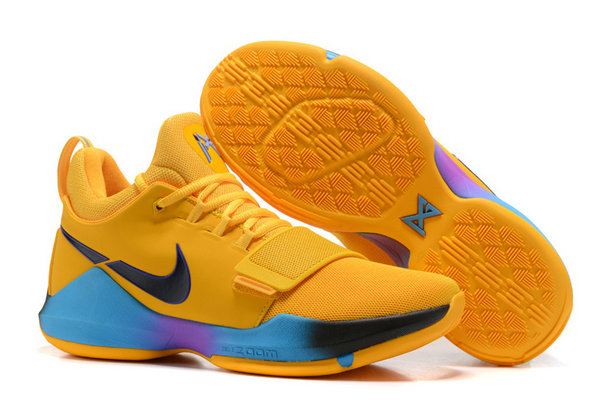 Official Cheap Wholesale Nike PG 1 Mens Yellow Black Blue