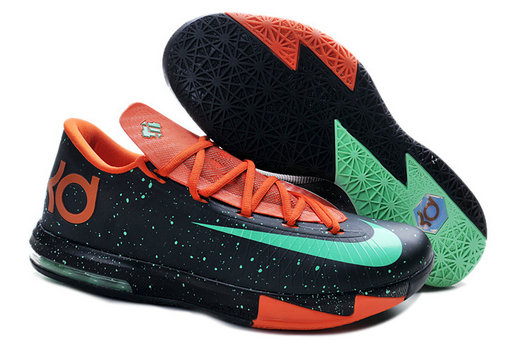 Orange Black Green Nike Kevin Durant 6 For Kids