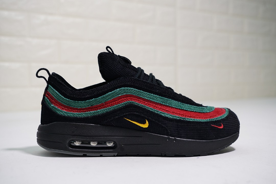 Wholesale Original Sean Wotherspoon X Nike Airmax 87 Black Green