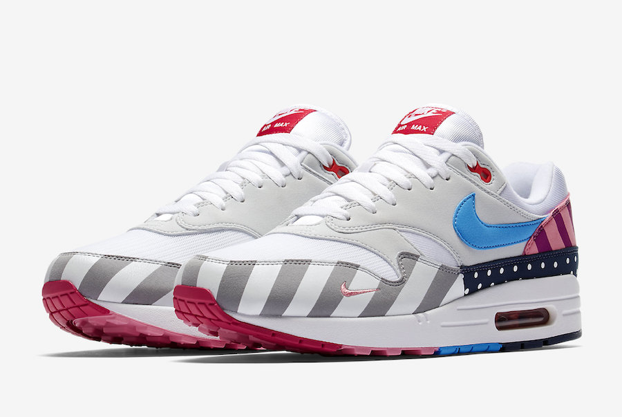 Wholesale Parra x Nike Air Max 1 White-Pure Platinum AT3057-100