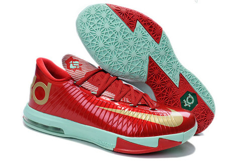 Red Gold Green Nike Kevin Durant 6 For Kids