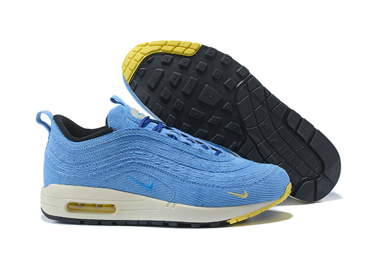 Sean Wotherspoon x Nike Air Max 1 97 VF Sneaker White Blue Yellow Black