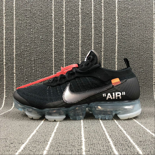 timeless design aafbd d9c65 Wholesale Cheap THE 10 Nike Air VaporMax FK 2018 OFF WHITE AA3831-002 Black  Total