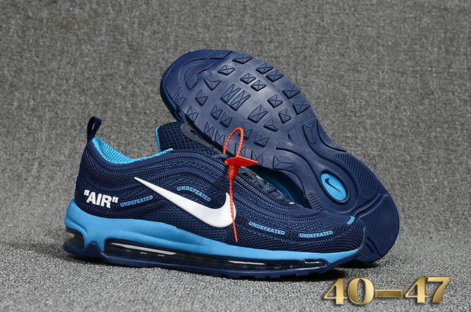 3af9bedfb4 Undefeated x Nike Air Max 97 Blue Navy Blue Cheap Wholesale Air Max 97