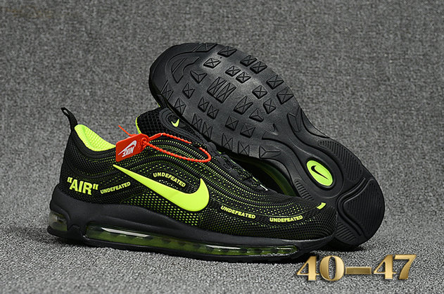 reputable site f293c 7d1dc Undefeated x Nike Air Max 97 Fluorescent Green Black Cheap Wholesale Air  Max 97