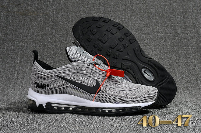 Undefeated x Nike Air Max 97 Grey Black White Cheap Wholesale Air Max 97