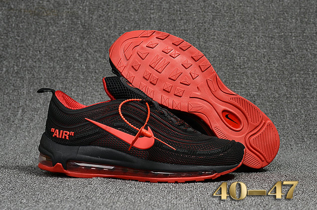 Undefeated x Nike Air Max 97 Red Black Cheap Wholesale Air Max 97