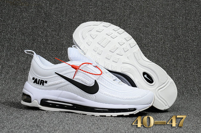 Undefeated x Nike Air Max 97 White Black Cheap Wholesale Air Max 97