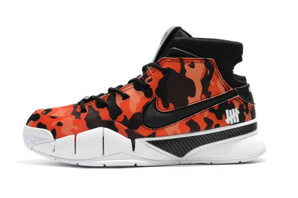 Cheap Wholesale Undefeated x Nike Zoom Kobe 1 Protro Red Camo Mens Shoes For Sale