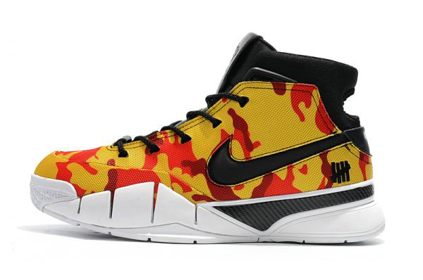 Cheap Wholesale Undefeated x Nike Zoom Kobe 1 Protro Yellow Camo Mens Shoes Free Shipping