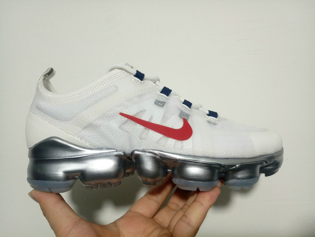 Cheap Wholesale WMNS Nike Air Max 2019 x VaporMax White Red Silver
