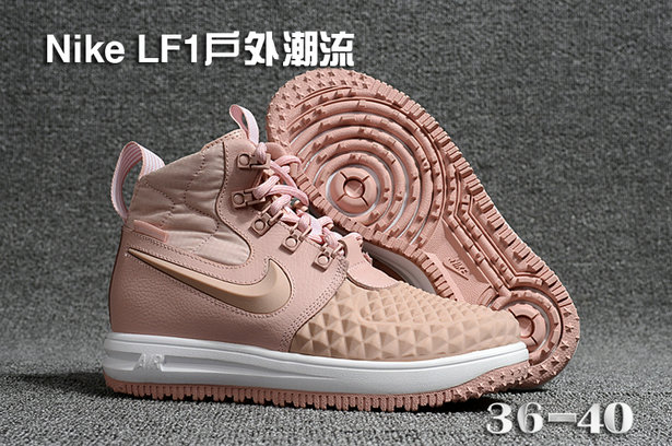 online store 83679 2612a Cheap Wholesale WMNS Nike Lunar Force 1 DuckBoot Rose Gold White