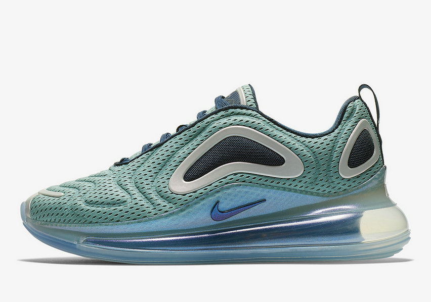 Where To Buy Wholesale 2019 Womens Cheap Nike Air Max 720 Northern Lights Metallic Silver Midnight Navy AR9293-001