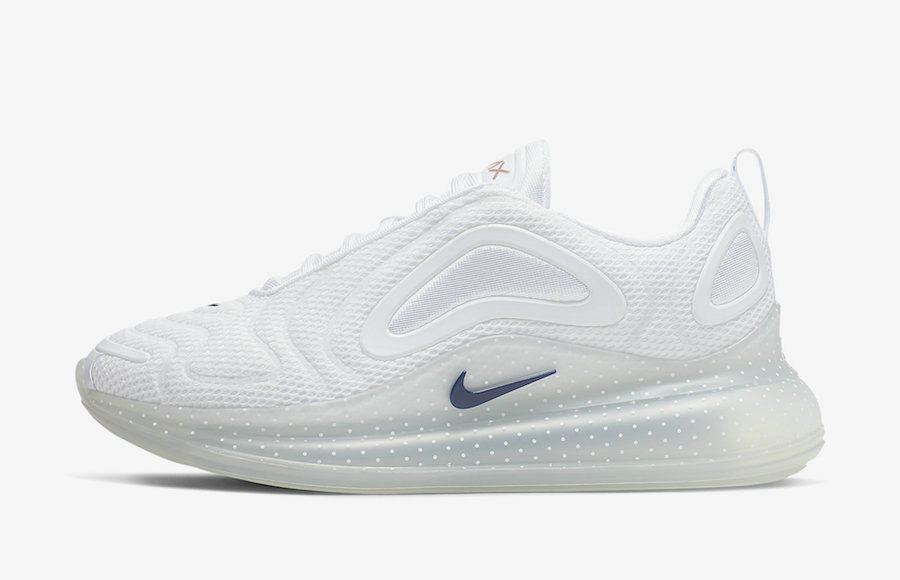 Where To Buy Wholesale 2019 Womens Cheap Nike Air Max 720 White Midnight Navy-Metallic Red Bronze CI9097-100