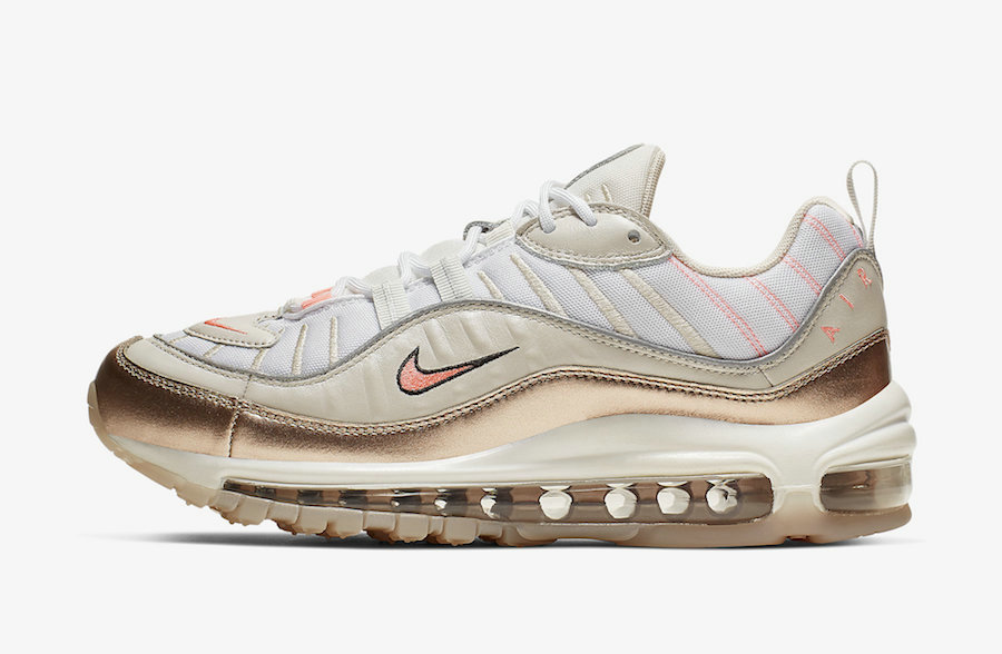Where To Buy Wholesale 2019 Womens Cheap Nike Air Max 98 Orewood Brown Lava Glow-White CI9907-100