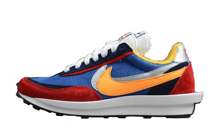 Where To Buy Wholesale 2019 Womens Cheap Sacai x Nike LDV Waffle Daybreak Blue Red BV0073-400