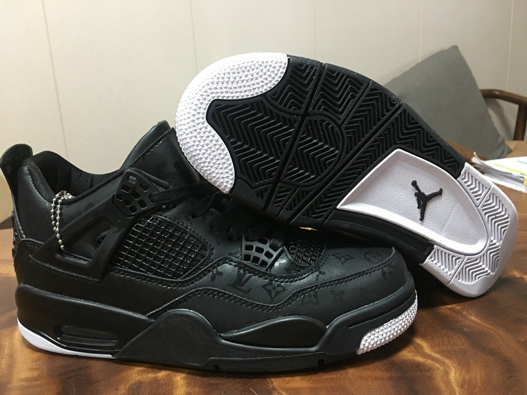Where To Buy 2020 Wholesale Cheap Nike Air Jordan 4 Black White L-V