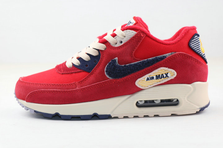 Where To Buy 2020 Wholesale Cheap Nike Air MAX 90 Vaserty Pack University Red 858954-600