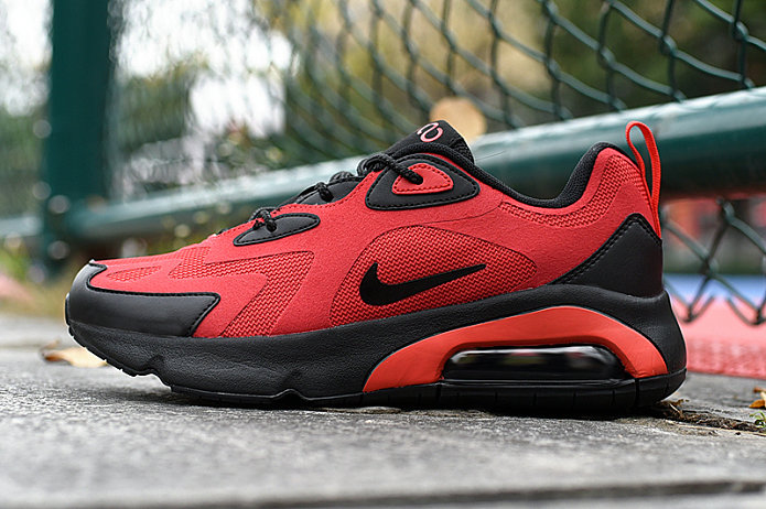 Where To Buy 2020 Wholesale Cheap Nike Air Max 200 Black Habanero Red AQ2568-600