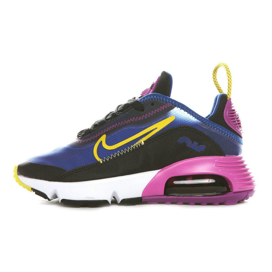 Where To Buy 2020 Wholesale Cheap Nike Air Max 2090 Colorway Blue Void Black-Active Fuchsia-Varsity Maize-White Ck2612-400