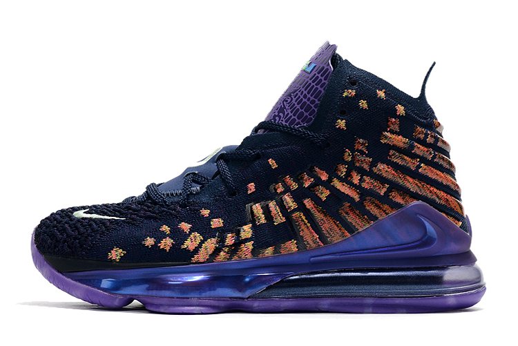 Where To Buy 2020 Wholesale Cheap Nike LeBron 17 Monstars All Star Navy Heather Multi-Color CD5050-400