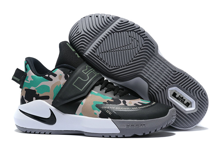 Where To Buy 2020 Wholesale Cheap Nike Lebron Ambassador XII Army Green Black White
