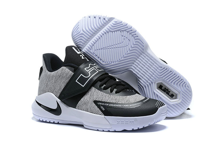 Where To Buy 2020 Wholesale Cheap Nike Lebron Ambassador XII Cool Grey Black White