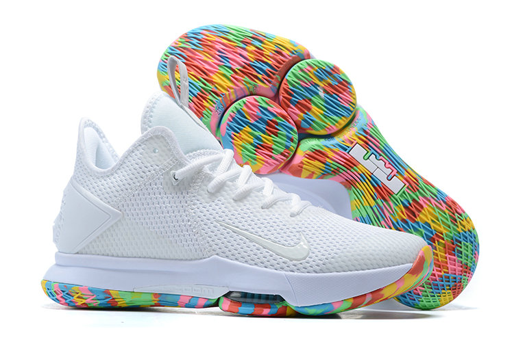 Where To Buy 2020 Wholesale Cheap Nike Lebron Witness 4 White Rainbow